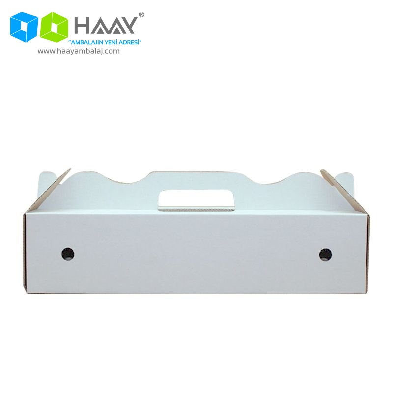40x19x10 cm Beyaz Renkli Lahmucun Kutusu