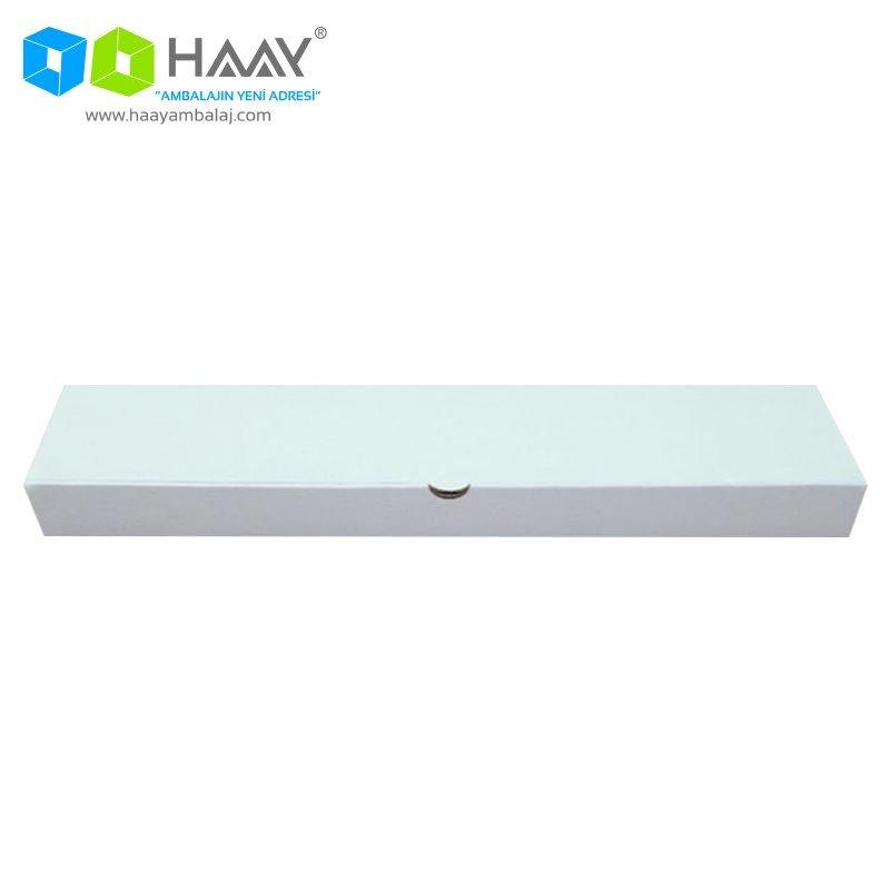 32x15x4 cm Beyaz Renkli Pide Kutusu
