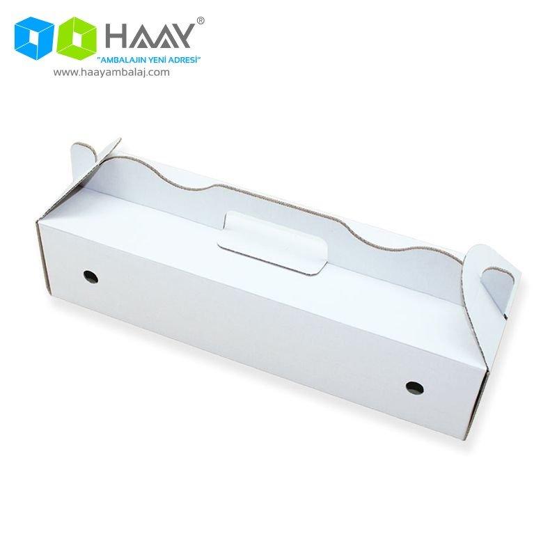 40x19x10 cm Beyaz Renkli Lahmucun Kutusu - 42