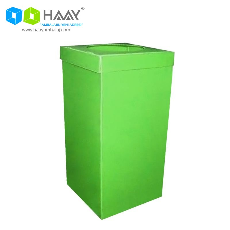 Plastik Atık Kağıt Kutusu Yeşil