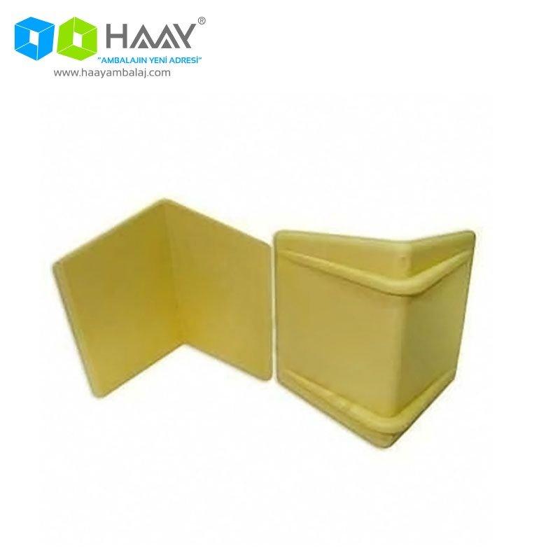 Sarı Çember Köşe Koruyucu Plastik Köşebent Paketi (250 Adet)