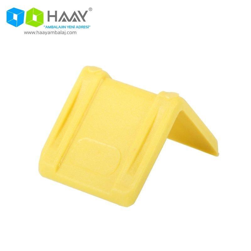 Sarı Çember Köşe Koruyucu Plastik Köşebent Paketi (250 Adet) - 94