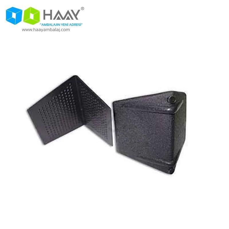 Siyah Çember Köşe Koruyucu Plastik Köşebent Paketi (1000 Adet)