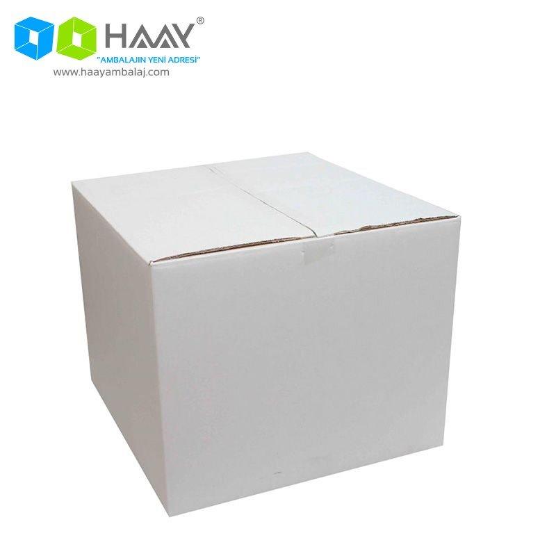 45x44x36 cm Çift Oluklu Beyaz A-Box Koli - 112