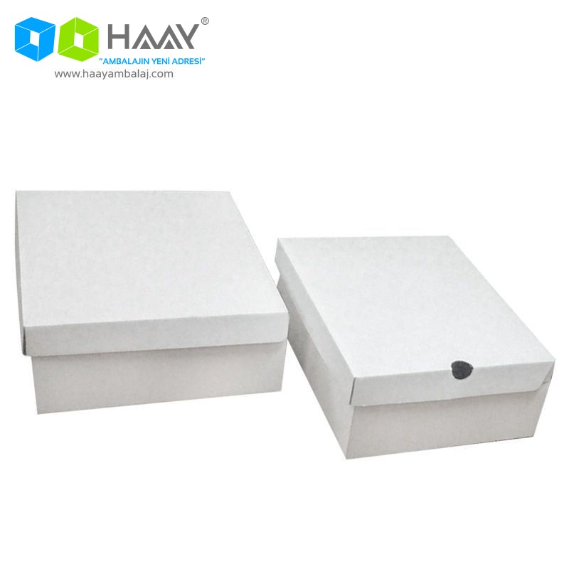 32x28x11 cm Zenne Beyaz Bot Kutusu