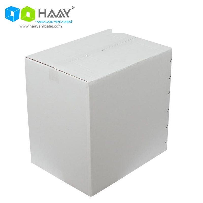40x30x40 cm Çift Oluklu Beyaz A-Box Koli - 163