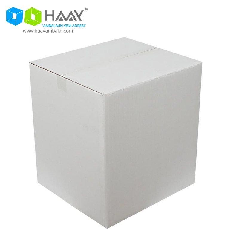 40x36x43 cm Beyaz Çift Oluklu A-Box Koli - 161