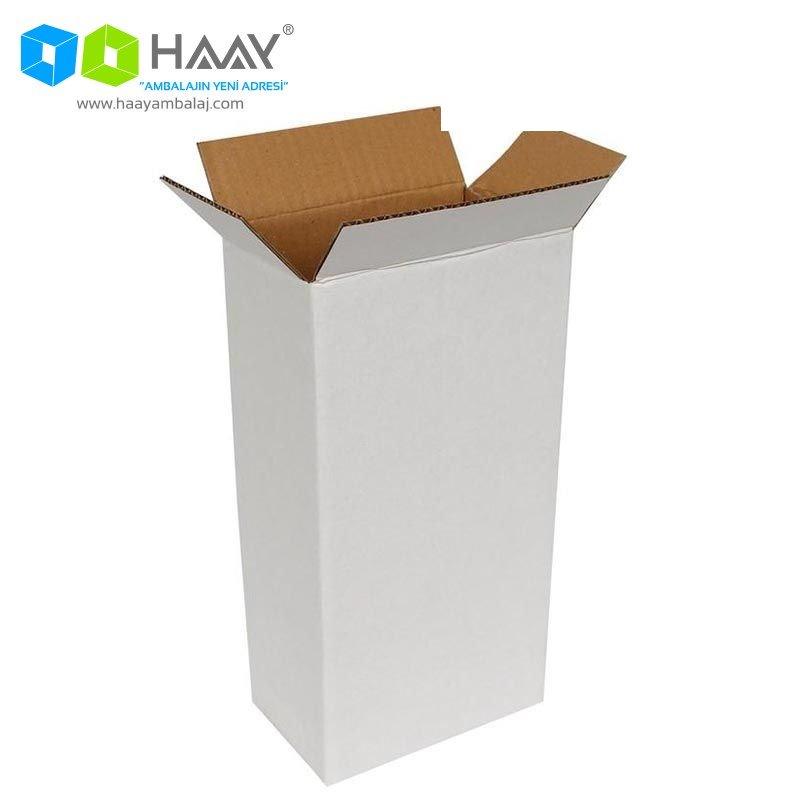 14x8x27 cm Tek Oluklu Beyaz A-Box Koli