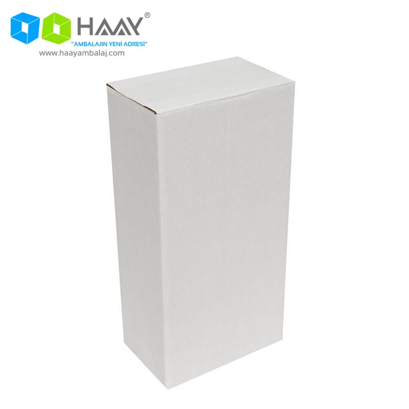 14x8x27 cm Tek Oluklu Beyaz A-Box Koli - 172