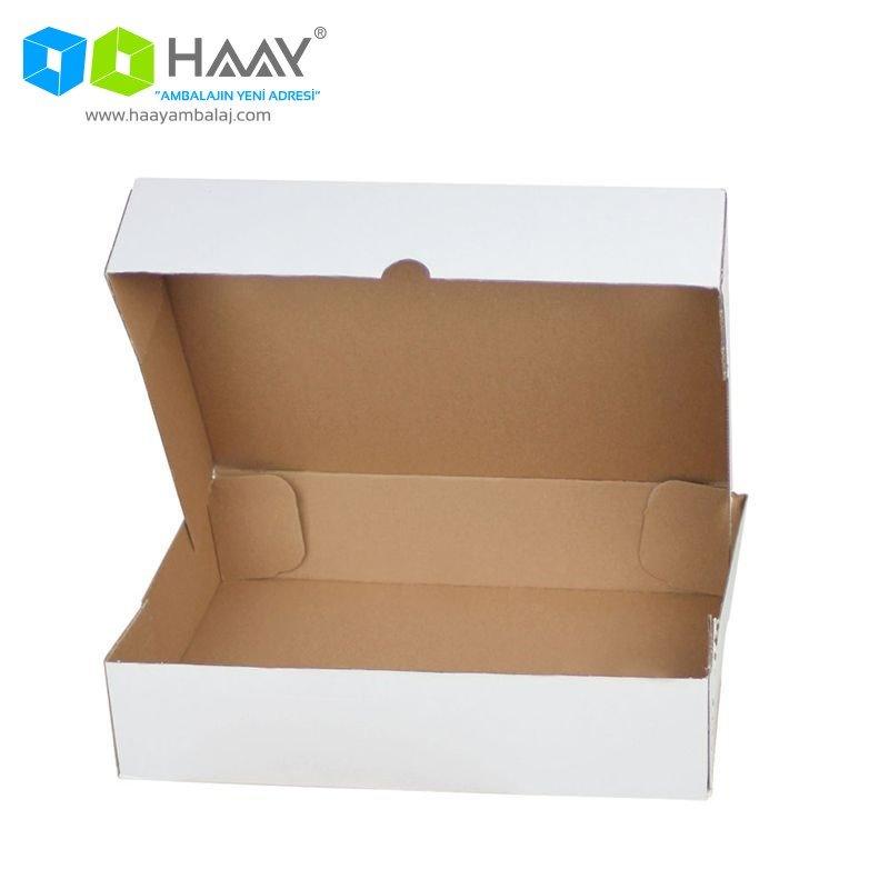 26x12x7,5 cm Beyaz Kapaklı Kutu (4 Nokta)