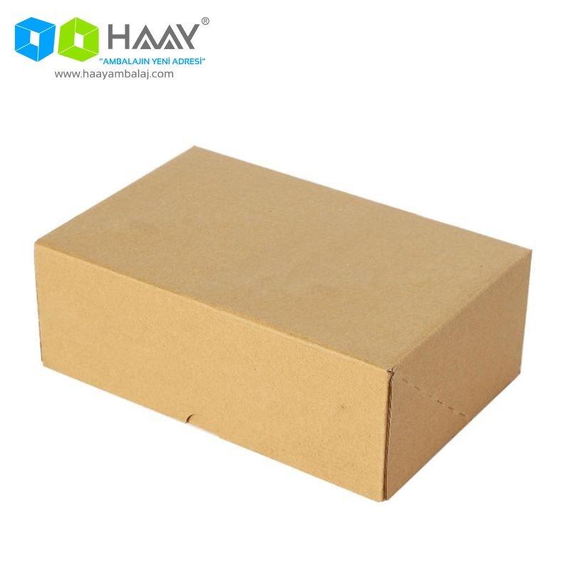 17x17x6 cm Kraft Kapaklı Kutu (4 Nokta) - 182