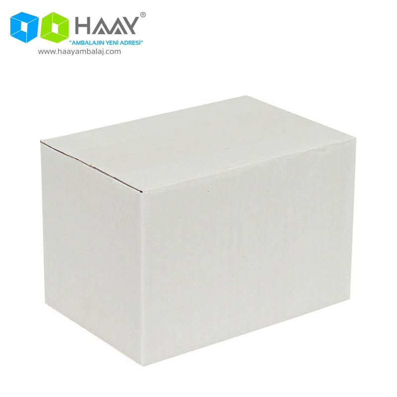 15x10x10 cm Tek Oluklu Beyaz A-Box Koli - 196