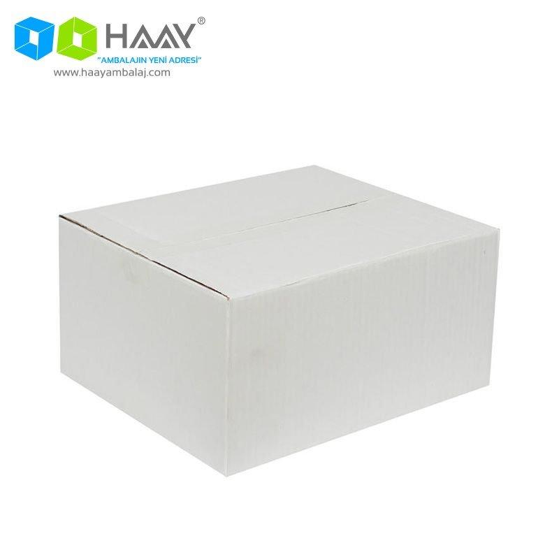 30x25x15 cm Tek Oluklu Beyaz A-Box Koli - 232