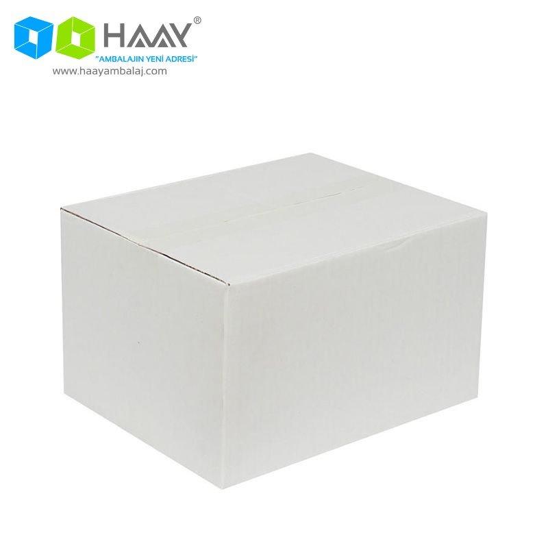 25x20x15 cm Beyaz Çift Oluklu A-Box Koli - 218
