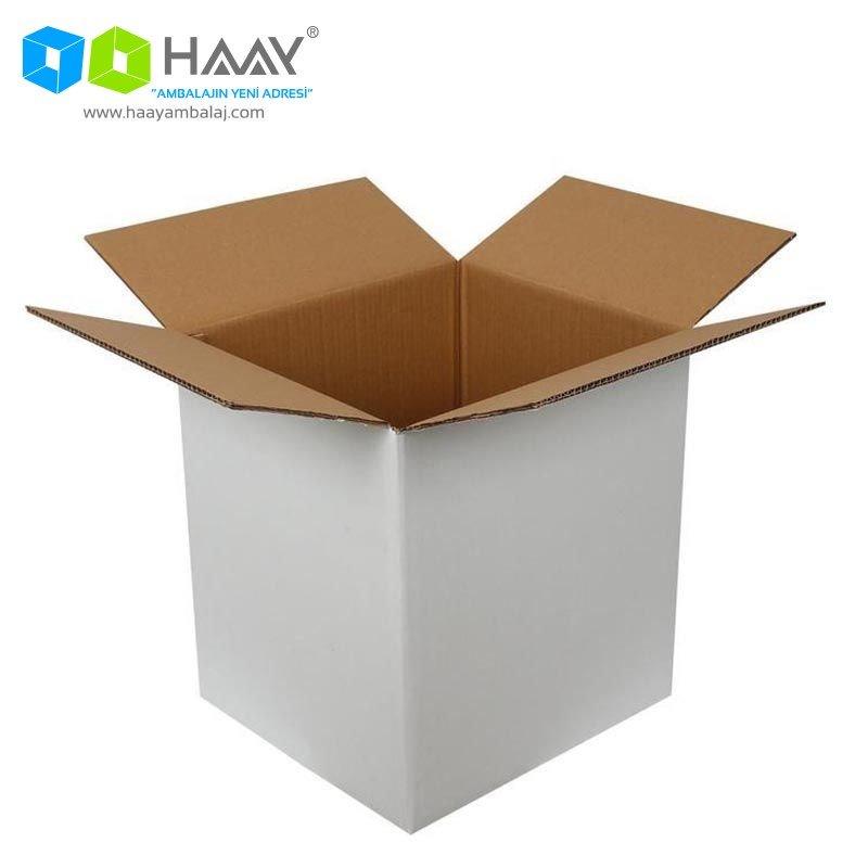 40x33x44 cm Beyaz Çift Oluklu A-Box Koli - 281