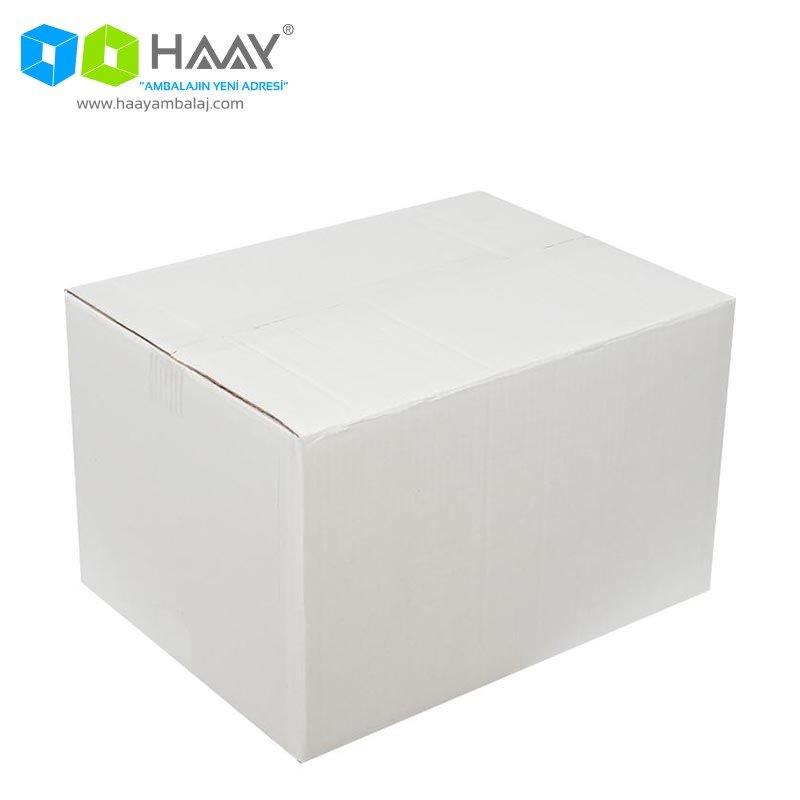 40x30x25 cm Beyaz Çift Oluklu A-Box Koli - 279