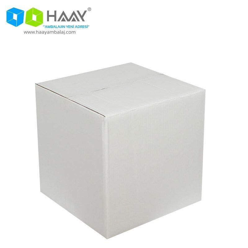 35x35x35 cm Beyaz Çift Oluklu A-Box Koli - 265