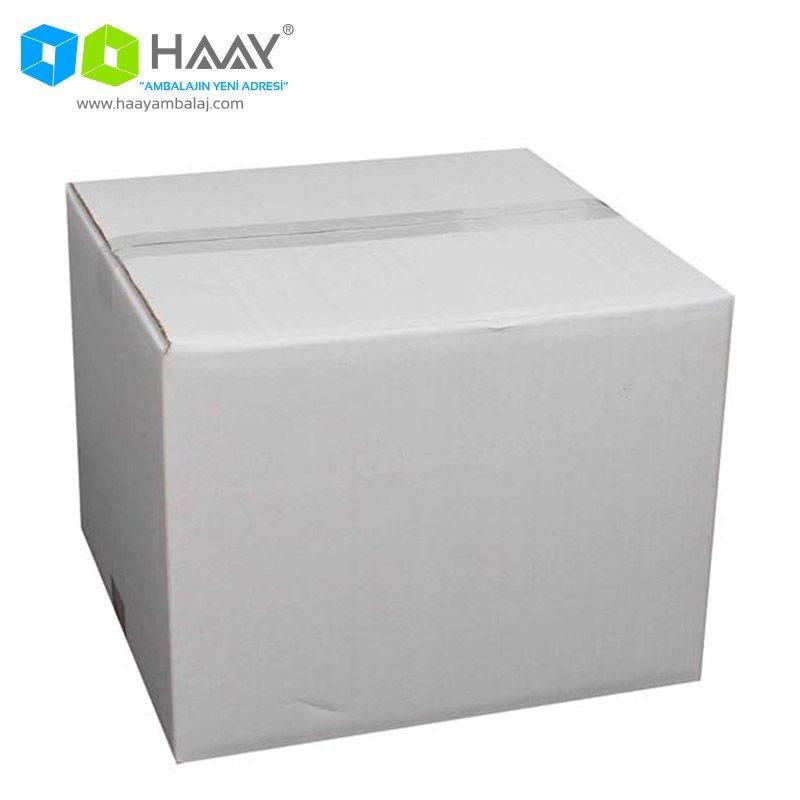 32x32x24,5 cm Beyaz Çift Oluklu A-Box Koli - 262