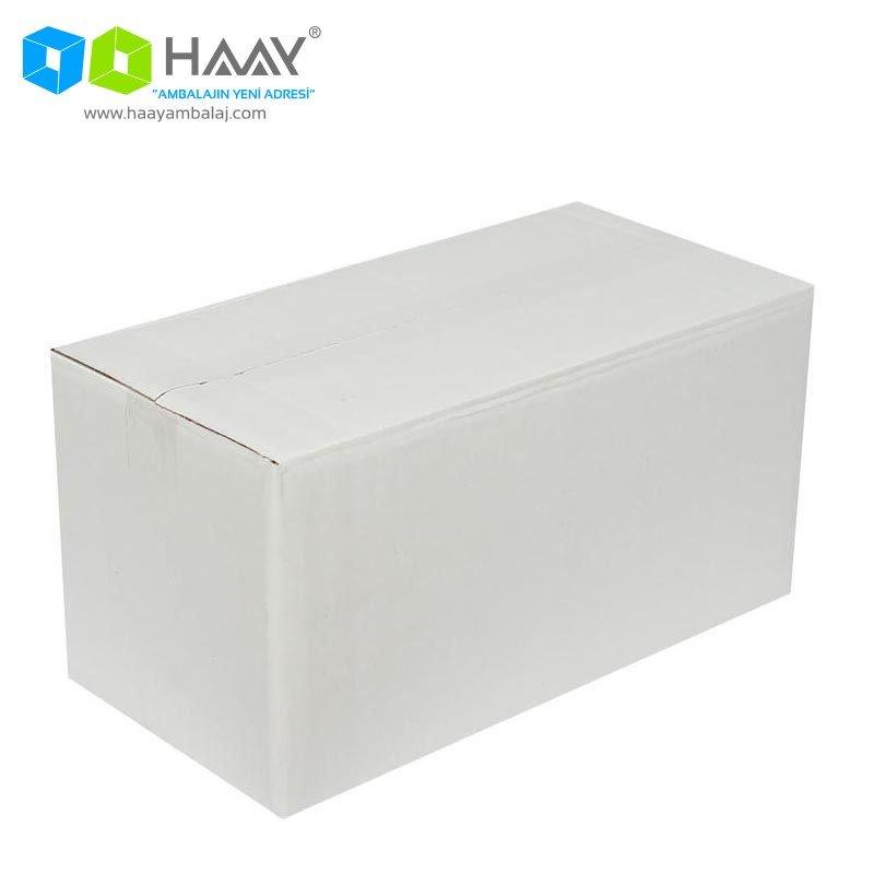 40x20x20 cm Beyaz Çift Oluklu A-Box Koli - 270