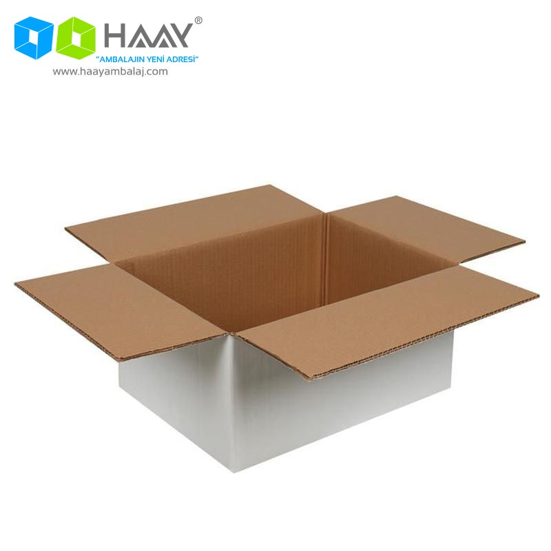 40x30x20 cm Beyaz Çift Oluklu A-Box Koli