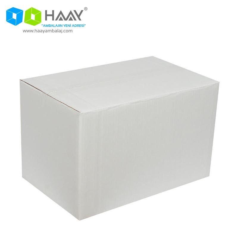 40x25x25 cm Beyaz Çift Oluklu A-Box Koli - 275
