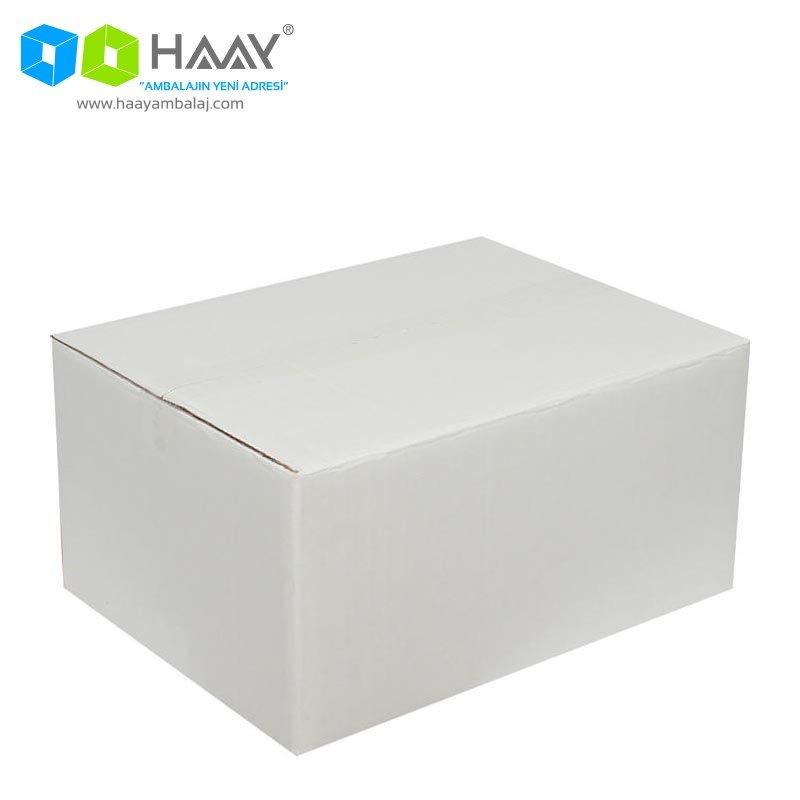 40x30x20 cm Beyaz Çift Oluklu A-Box Koli - 277