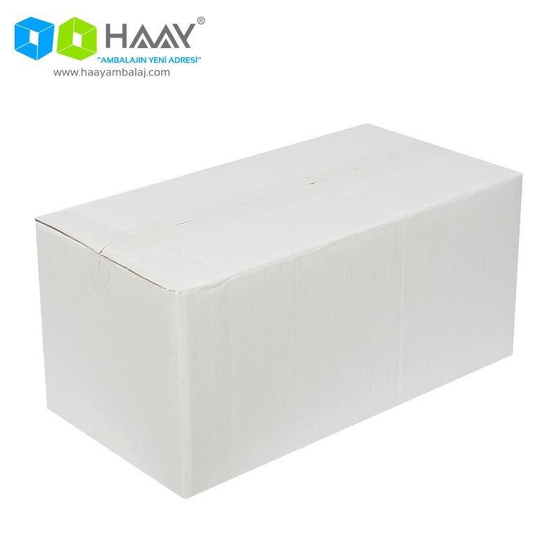 41x21x18 cm Beyaz Çift Oluklu A-Box Koli - 267