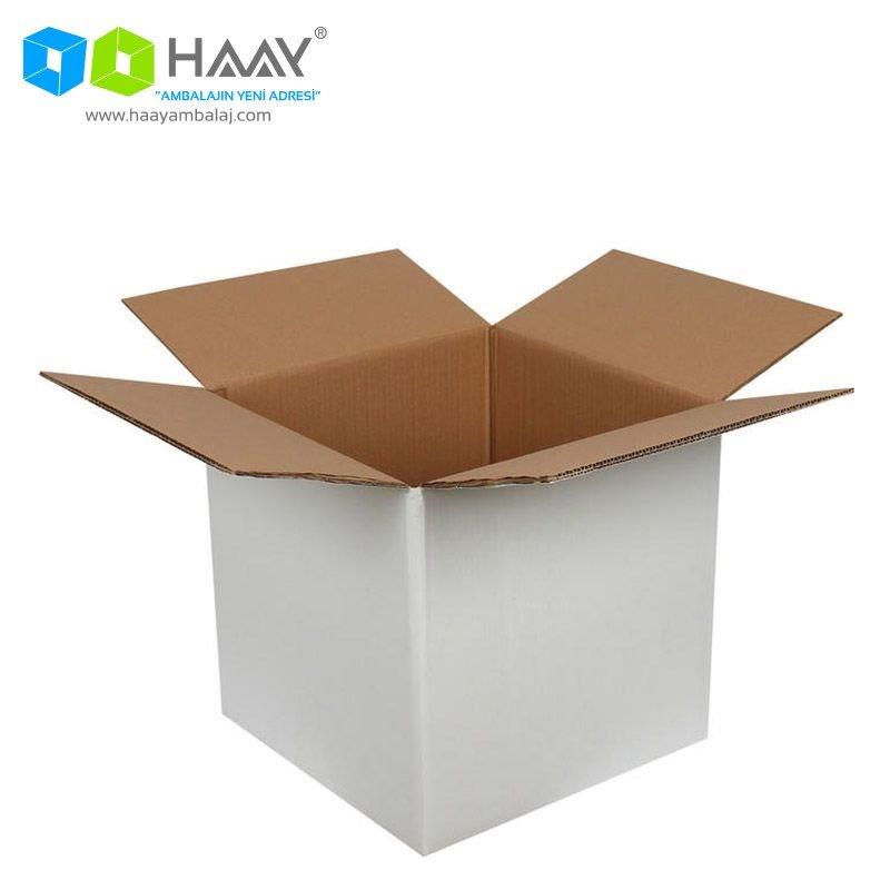 35x35x35 cm Beyaz Çift Oluklu A-Box Koli - 264