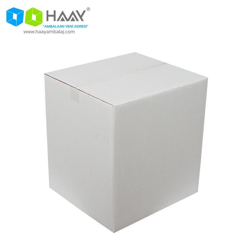 40x33x44 cm Beyaz Çift Oluklu A-Box Koli - 282