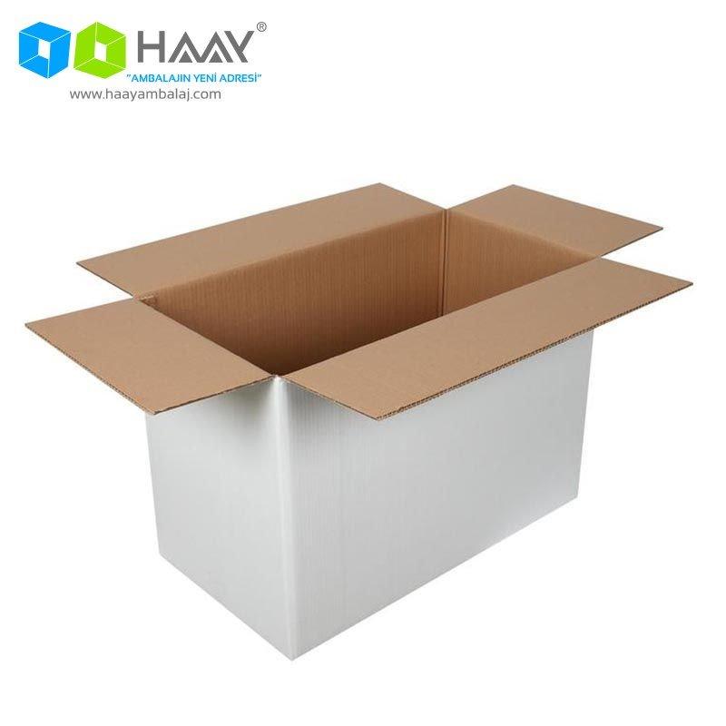 65x35x45 cm Beyaz Çift Oluklu A-Box Koli