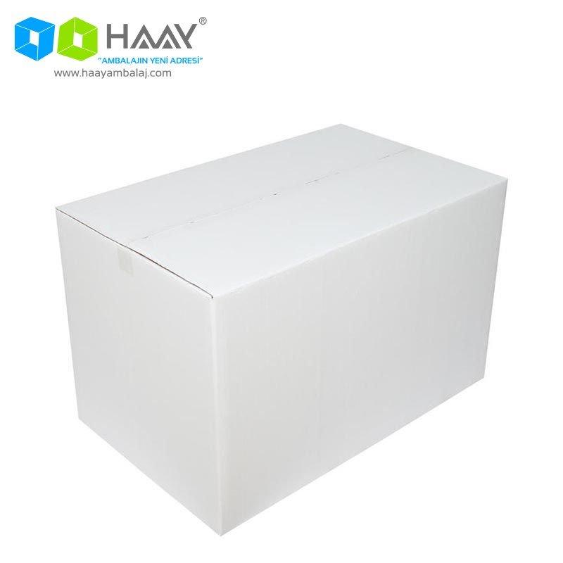 80x50x50 Beyaz Çift Oluklu A-Box Koli - 306