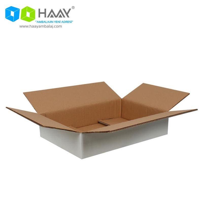 45x30x10 cm Beyaz Çift Oluklu A-Box Koli - 290