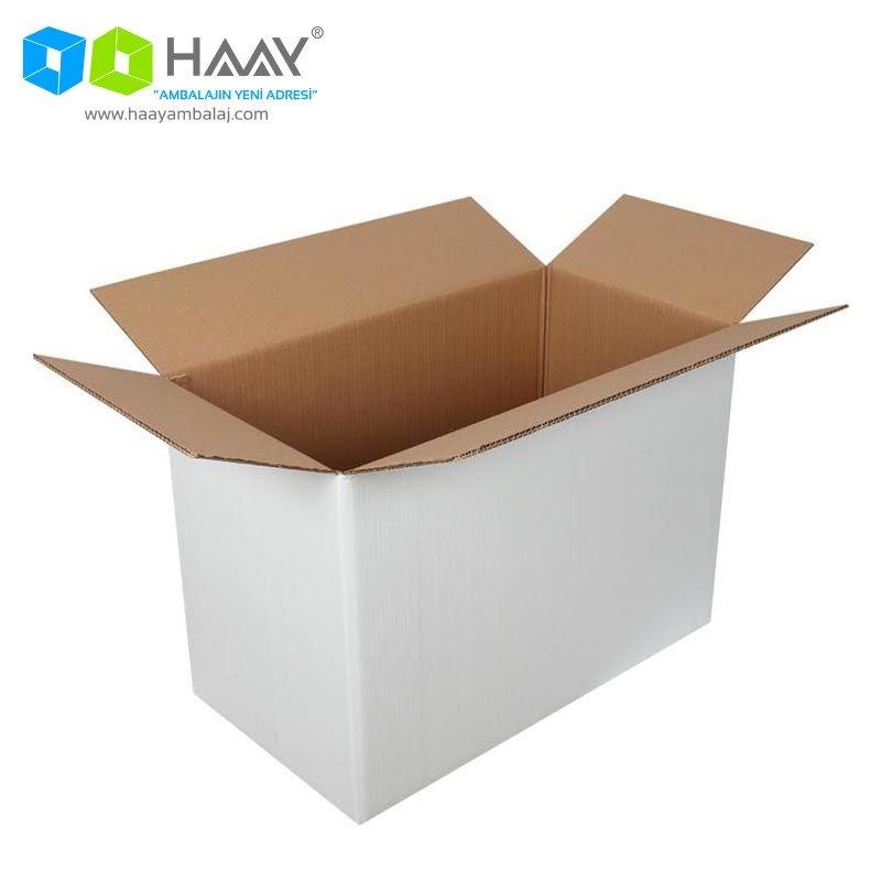 65x35x45 cm Beyaz Çift Oluklu A-Box Koli - 298