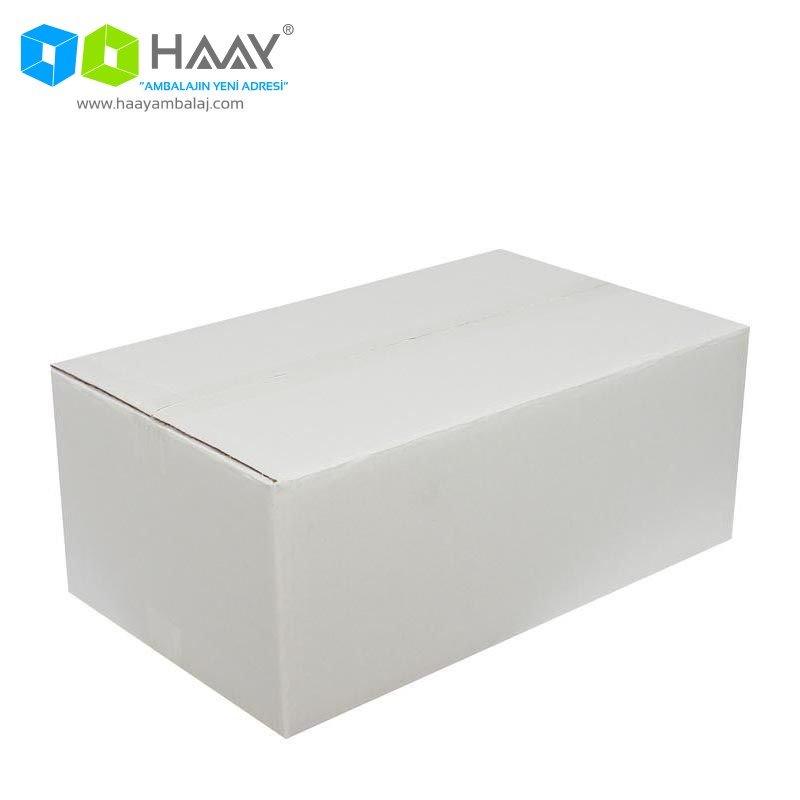 50x30x20 cm Beyaz Çift Oluklu A-Box Koli - 295