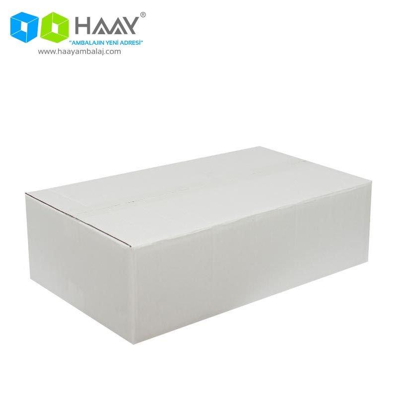 50x30x15 cm Beyaz Çift Oluklu A-Box Koli - 293