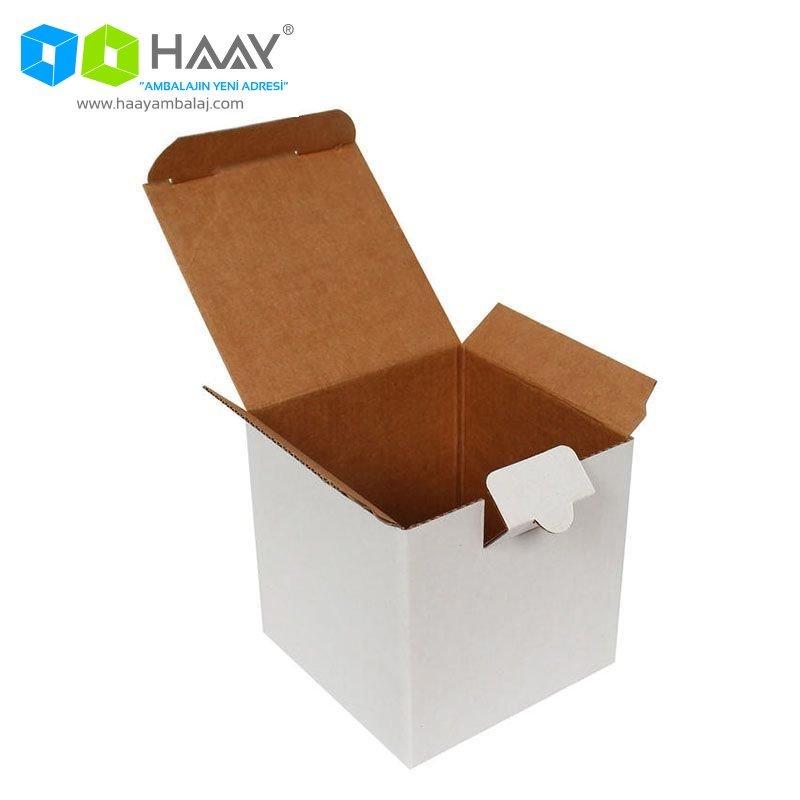 10,5x10,5x10,5 cm Kutu Beyaz
