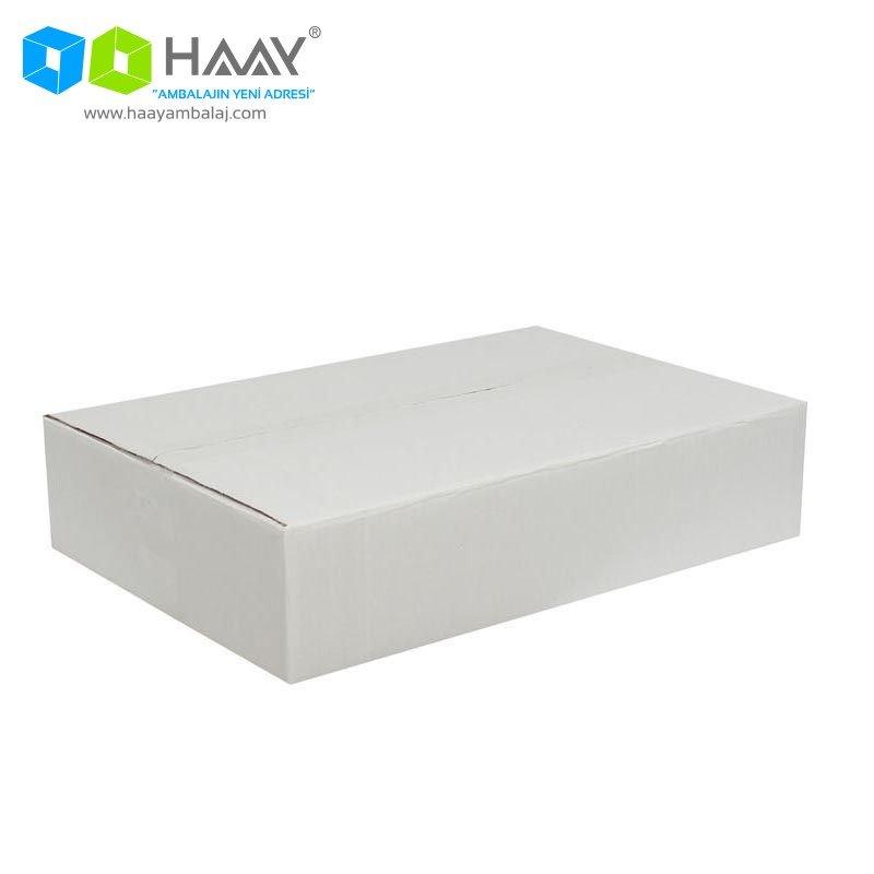 45x30x10 cm Beyaz Çift Oluklu A-Box Koli - 291