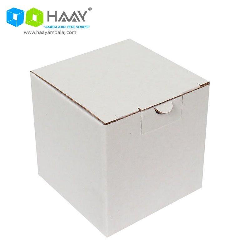 10,5x10,5x10,5 cm Kutu Beyaz - 314