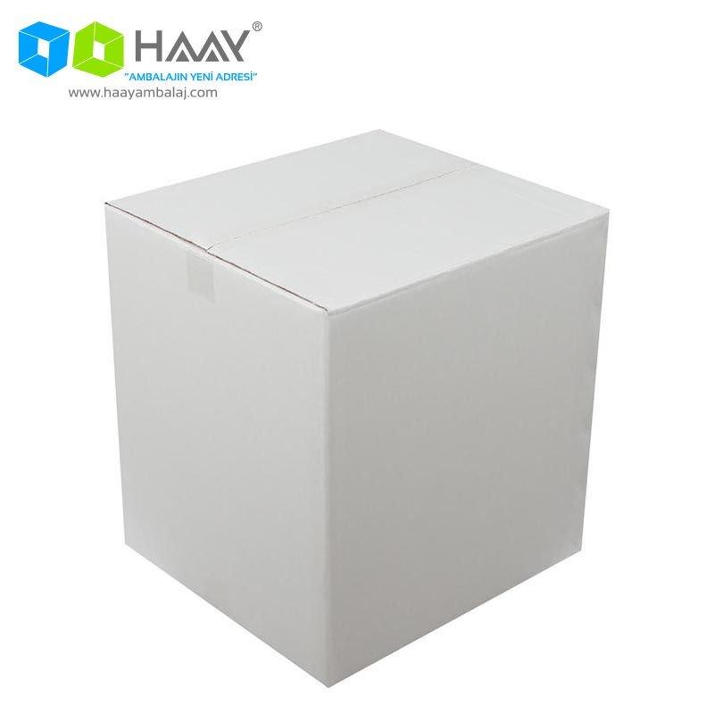 40x37x43 cm Beyaz Çift Oluklu A-Box Koli - 286