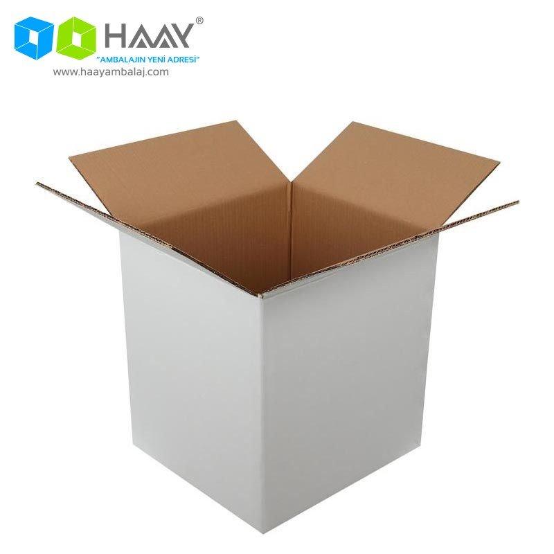 40x37x43 cm Beyaz Çift Oluklu A-Box Koli - 285