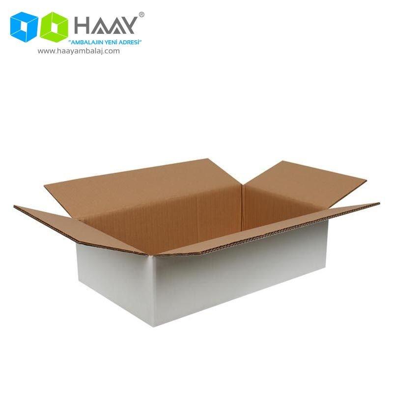 50x30x15 cm Beyaz Çift Oluklu A-Box Koli - 292