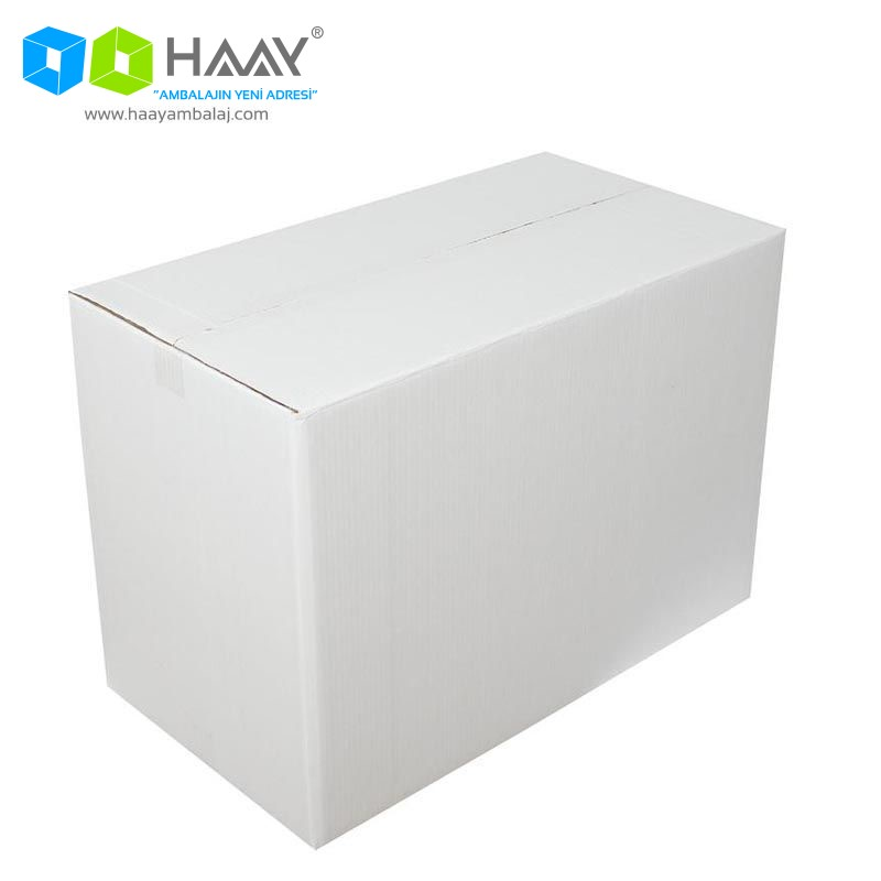 65x35x45 cm Beyaz Çift Oluklu A-Box Koli - 299