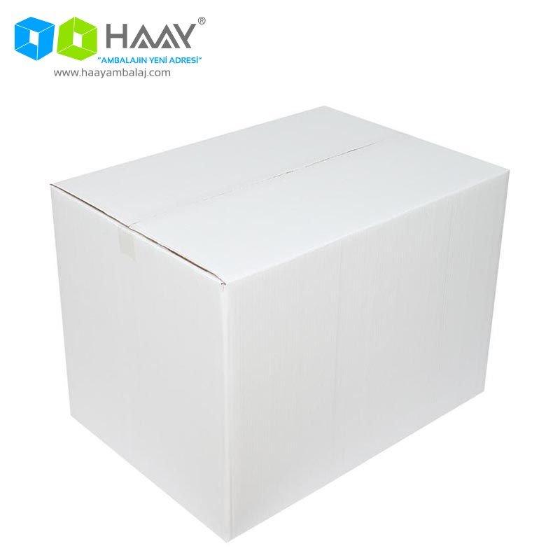70x50x50 cm Beyaz Çift Oluklu A-Box Koli - 304