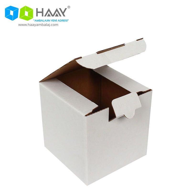 10,5x10,5x10,5 cm Kutu Beyaz - 313