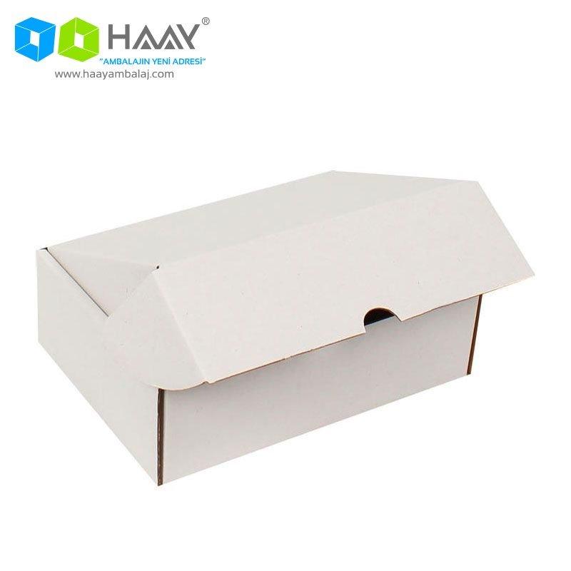 19x13x6 cm Beyaz Kapaklı Kutu - 353
