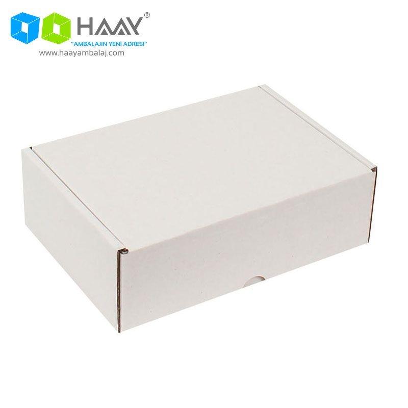 19x13x6 cm Beyaz Kapaklı Kutu - 354