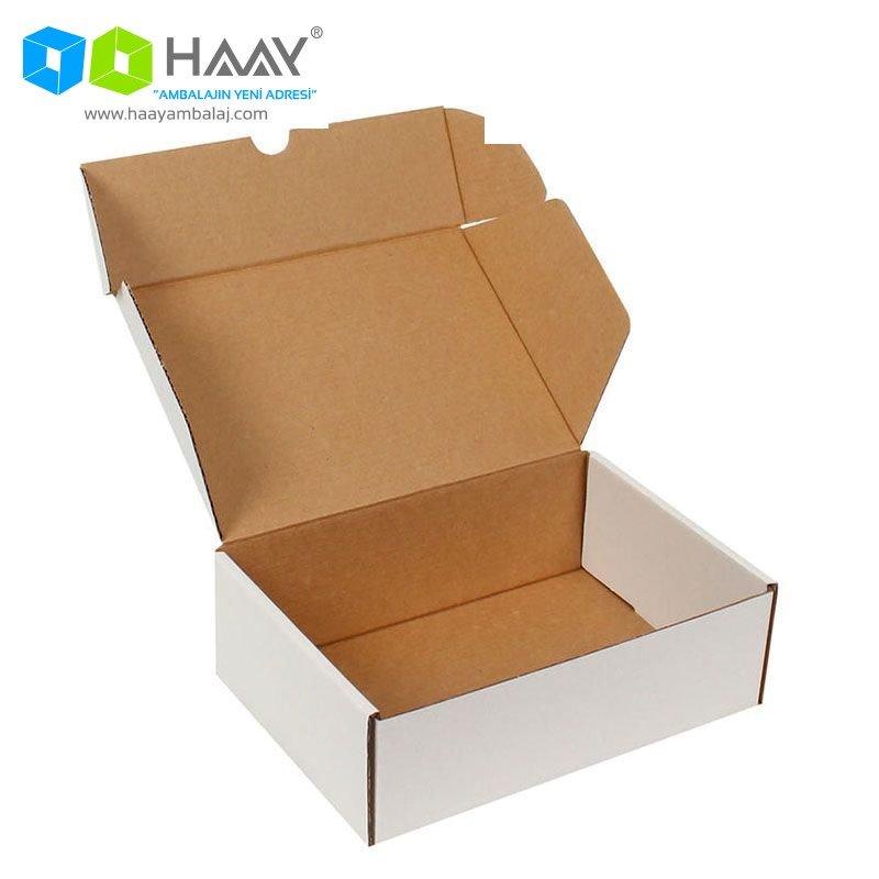19x13x6 cm Beyaz Kapaklı Kutu