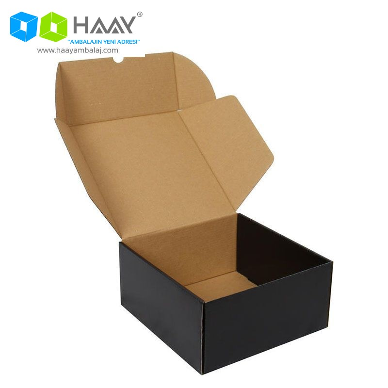 21x21x10 cm Siyah Karton Kutu