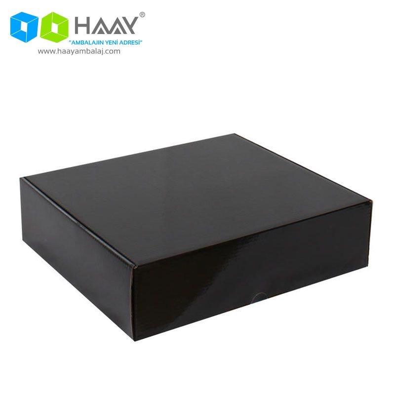 29x25,4x8 cm Siyah Kapaklı Kutu - 376