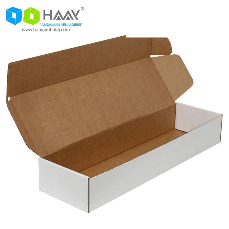 42x12x6,5 cm Beyaz Kapaklı Kutu